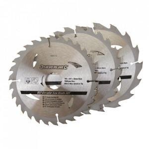 Set 3 discuri, lemn , 165 x 30 , prindere , 10, 16, 20, 30 mm, Silverline