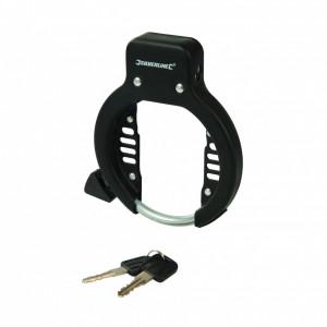 Antifurt pentru biciclete , 62 mm , otel , Silverline Bicycle Frame Lock