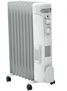 Calorifer electric cu ulei, 9 elementi, ventilatie, 2000W + 500W DA-J2050F Dedra