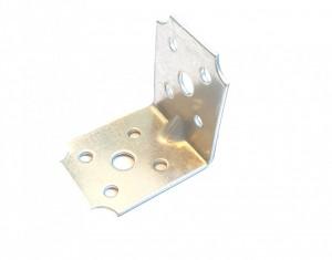 Coltar metalic galvanizat, pentru lemn cu ranforsare, 60 x 60 x 40mm , F.F. Group