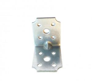 Coltar metalic, pentru lemn cu ranforsare, 50 x 50 mm, F.F. Group