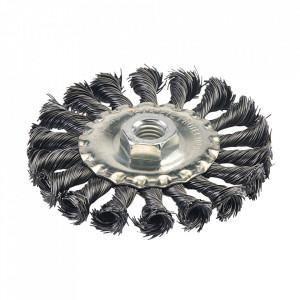 Disc perie sarma, 100mm, M14, montura polizor unghiular, Silverline