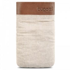 Husa universala textil, maro deschis, 125 x 73mm, Bugatti