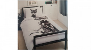 Lenjerie de pat ,1 plic pilota, 2 fete perna, 2 persoane, 200 x 200cm, 48 x 74cm, double, fox, George Home