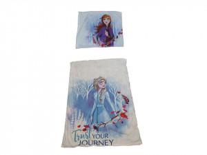 Lenjerie de pat, 1 plic pilota 200 x 140 cm, 1 fata perna 70 x 90 cm, single, microfibra fluffy, Disney Frozen 2