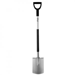 Lopata dreapta profesionala, coada metalica, maner tip D, 122 cm, Dedra