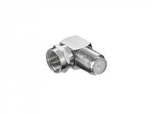 Mufa adaptor coaxial, tip F, 90 grade, Lumberg