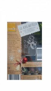 Ornament Craciun, acryl led, 6 culori, 10 led-uri, 14 x 19.50 cm, om de zapada, Dekor