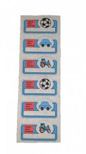 Petic textil, patch brodat , 190 x 68mm, aplicare la cald, baieti, Wenco