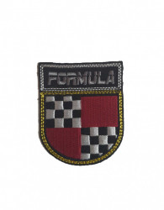 Petic textil, patch brodat , 55 x 60mm, emblema formula, Wenco