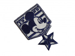 Petic textil, patch brodat , 75 x 50mm, Mickey Mouse, Disney