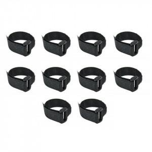Set 10 benzi velcro cu catarama, negru, 12 x 150mm, Dedra