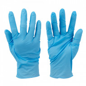 Set 100 manusi protectie virusi, bacterii, uz general, nitril fara pudra , marimea M , albastru , Silverline