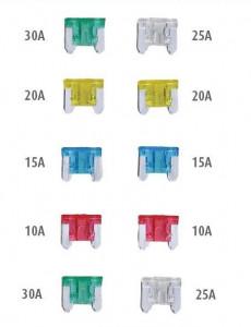 Set 120 micro sigurante auto ATT, 5, 10, 15, 20, 25, 30A, Silverline