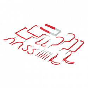 Set 20 piese carlige universale cauciucate, agatat diverse, 55 - 180mm, Fixman