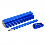 Set creioane de tamplarie , 12 buc + ascutitoare speciala , Carpenters Pencils & Sharpener Set 13pce