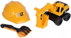 Set excavator, Cat Tough Truks, casca, lopata, grebla