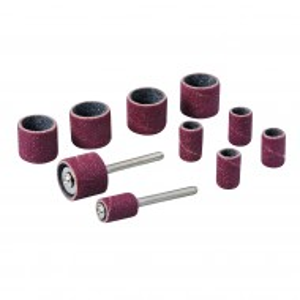 Set tamburi de șlefuit pentru unelte rotative ,biax , 12 piese , 3.17mm , Silverline Rotary Tool Drum Sanding Kit 12pce
