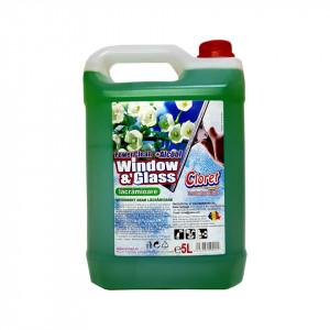 Solutie curatat geamuri, sticla, cu alcool, Lacramioare, 5L, Cloret