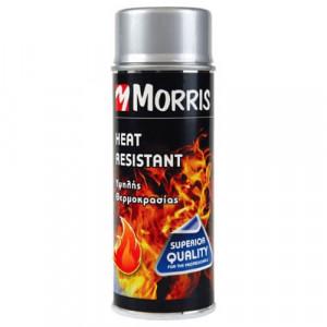 Spray vopsea rezistenta temperaturi ridicate , +800 grade, sobe, gratare, argintiu, 400 ml, Morris