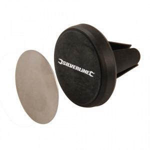 Suport aerisire magnetic universal telefoane mobile, suprafata contact cauciucata, Silverline