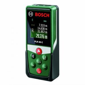 Telemetru cu laser Bosch PLR 40 C, 40 m, ± 2 mm precizie, 4 s timp masurare, 635 nm dioda laser