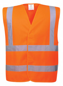 Vesta reflectorizanta portocaliu, marimea L, 102-110, inchidere Velcro, Bseen
