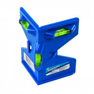 Boloboc de colt din plastic rezistent, cu 4 fâșii magnetice , 135mm , Silverline Post Level