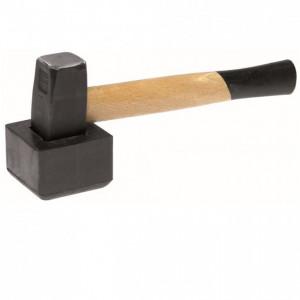Ciocan de metal cu amortizor de cauciuc pentru pavele 1 kg