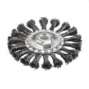 Disc perie sarma, 115mm, M14, montura polizor unghiular, Silverline