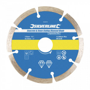 Disc taiat beton, caramida, 115 x 22.23mm, Silverline