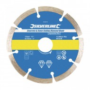 Disc taiat beton, caramida, 115 x 22.23mm, Silverline
