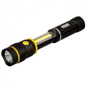 Lanterna profesionala 2 in 1, extensibila, baza magnetica, 250 lumeni, aluminiu, LED COB, Defender