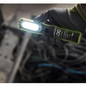 Lanterna profesionala atelier, 200 / 500 lumeni, acumulator, baza magnetica, 180mm, Unilite