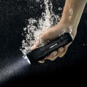Lanterna profesionala, submersibila 1m, 350lumeni, rezistenta impact, aluminiu, acumulator, 190m, 11.5 cm, Unilite HiVis