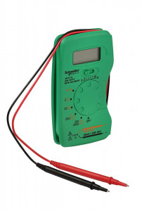 Multimetru digital, 2-300v, 200mA, Schneider Electric