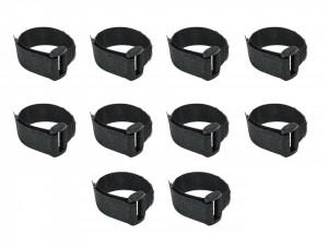 Set 10 benzi velcro, negru, 16 x 310mm, Dedra
