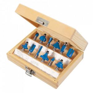 Set 12 freze lemn, oberfreza, prindere 8mm, Silverline