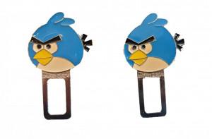 Set 2 anulatoare centura, sunet centura, Angry Birds, albastru, Disney