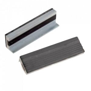 Set 2 falci protectie menghina, baza magnetica, cauciuc, aluminiu, 100mm, Silverline