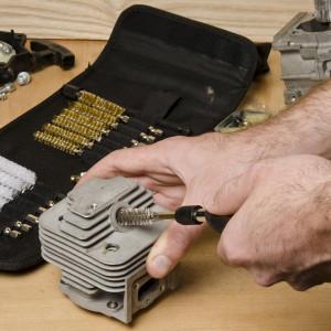 Set 20 perii curatare spatii greu accesibile, 9-19mm, Silverline