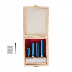 Set 4 freze lemn, oberfreza lemn, 8-12mm, Silverline