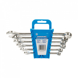 Set 6 chei fixe combinate, metric, 8, 10, 12, 13, 14, 17, Silverline