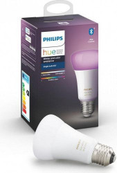 Bec inteligent LED RGBW Philips HUE, Bluetooth/Wireless, E27, 9W (60W), 806 lm, A+, lumina alba/color