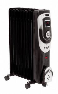 Calorifer electric Descon , 9 elementi, 2000W, cu display LCD , 3 trepte de putere, termostat reglabil , Dedra