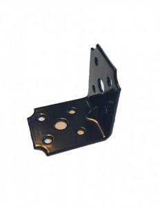 Coltar metalic galvanizat, pentru lemn cu ranforsare, 60 x 60 x 40mm , negru, F.F. Group