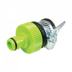 """Conector cupla robinet/conducta, 15-18mm (F) - 12.7mm / 1/2"""" (M), Silverline"""