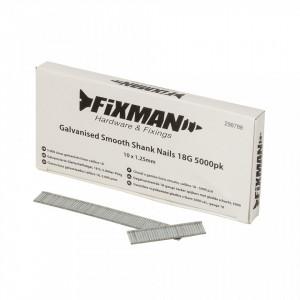 Cuie galvanizate 10x1.25mm, tip 18G, 5000 buc, Fixman