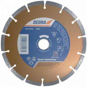 Disc diamantat cu segmente, beton , tigla , marmura, 125x22.2mm, Dedra