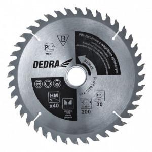 Disc fierastrau circular, 250 mm, 60 dinti, prindere 16mm, Dedra